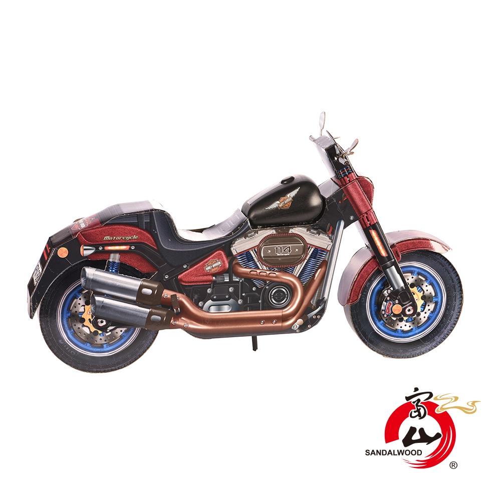 富山檀香 紙紮哈雷重型摩托車 型男必備 飆風專用 精緻往生紙紮