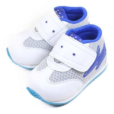 Swan天鵝童鞋--小閃電寶寶機能學步鞋1580-白
