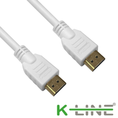 K-Line HDMI to HDMI 2.0版 4K超高畫質影音傳輸線 白/3M