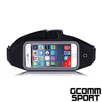 GCOMM SPORT 穿戴式音樂防汗水運動腰包5.7吋通用 經典黑