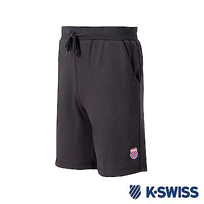 K-SWISS Vintage Logo Swearshorts棉質短褲-男-黑