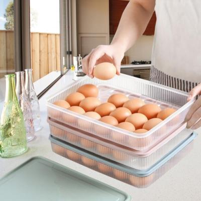 馬卡龍色24格雞蛋保鮮收納盒-2入組顏色隨機