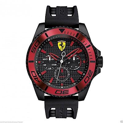 FERRARI 法拉利競速快感運動腕錶/紅/FA0830310