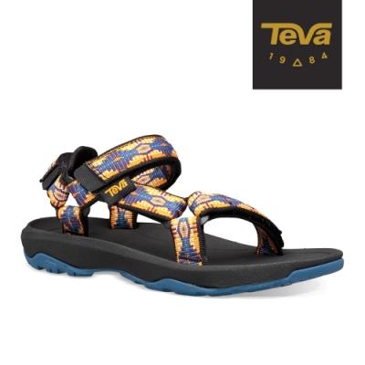 【TEVA】原廠貨 中童 Hurricane XLT2 機能運動涼鞋/雨鞋/水鞋/童鞋(峽谷圖騰藍橘-TV1019390CCTCN)