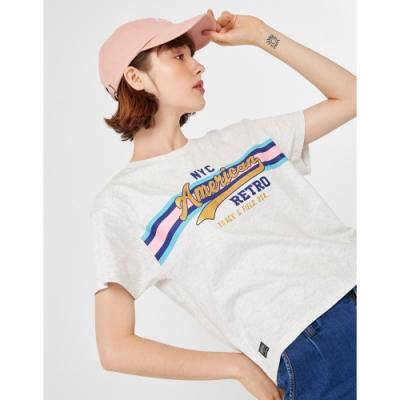 CACO-AR燙金字短T-情侶款-女【TAR088】