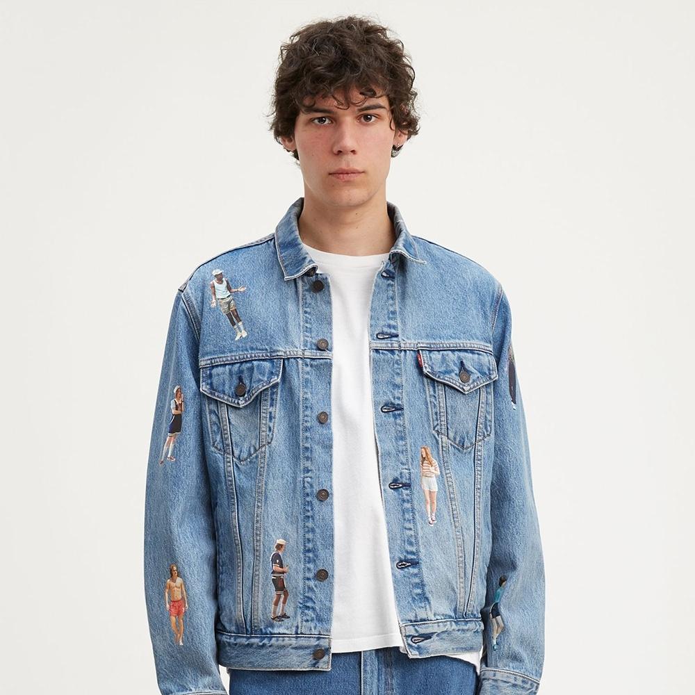 Levis X 怪奇物語限量聯名 男女同款 牛仔外套 復古寬袖落肩版型