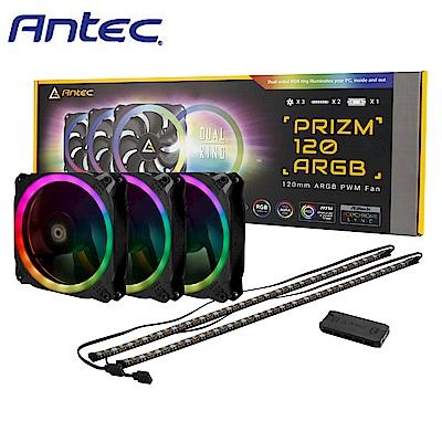 Antec 安鈦克 Prizm 120 ARGB 3+2+C 光稜扇 3風扇加控制器&燈條