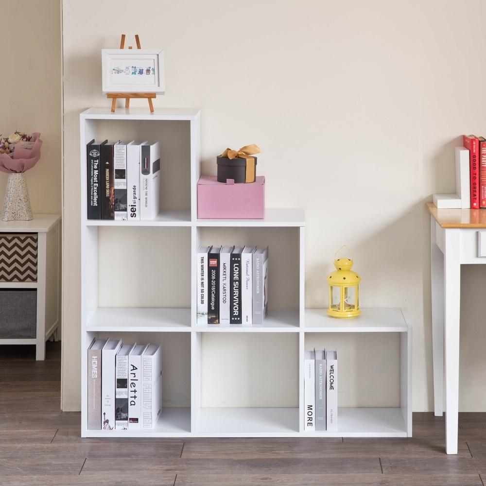 TZUMii造型階梯六格櫃-雙色可選108*29*108.2cm