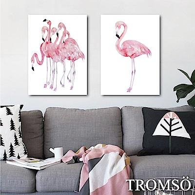 TROMSO時尚無框畫-盛夏紅鶴