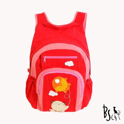 ABS貝斯貓 Fish&Cat 拼布雙肩後背包(活力紅)88-168