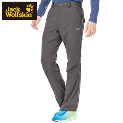 【Jack wolfskin 飛狼】男 舒適彈性快乾休閒長褲『卡其』