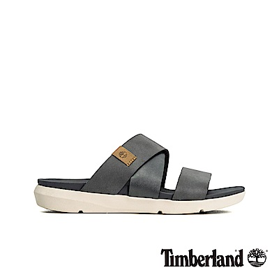 Timberland 女款鐵灰色平底露跟涼鞋|A1XPS
