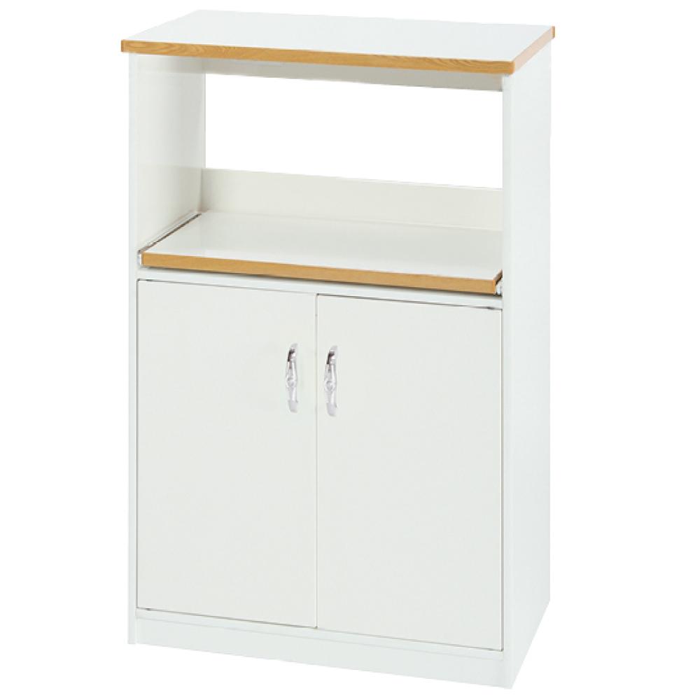 綠活居 阿爾斯環保2.2尺塑鋼二門單格餐櫃/收納櫃-67x42x112cm免組