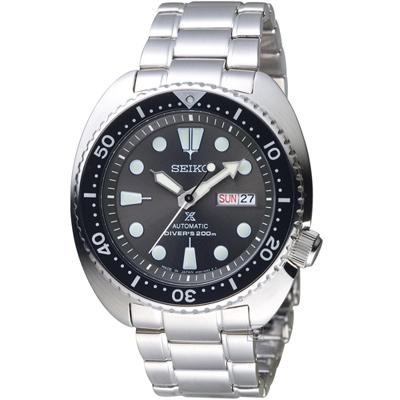 SEIKO PROSPEX 海龜系列潛水機械錶(SRPC23J1)灰/45mm
