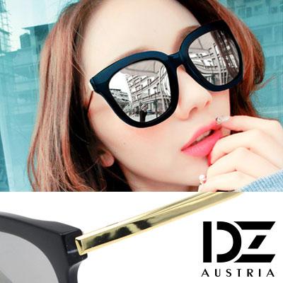 DZ 夏日光采 抗UV 防曬偏光 太陽眼鏡墨鏡(黑框水銀膜)