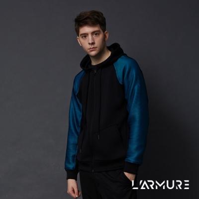 L ARMURE 男裝 ColorFlow 閃色 連帽外套 立體藍