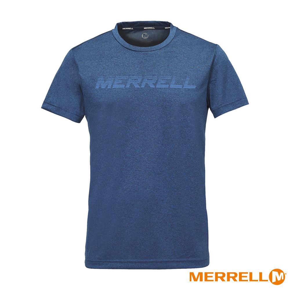 MERRELL 吸濕快乾排汗短袖男T恤-藍(5218TR214)