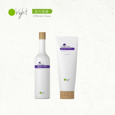 O right 歐萊德 洗護保養組-紫色玫瑰洗髮精400ml+護髮素250ml