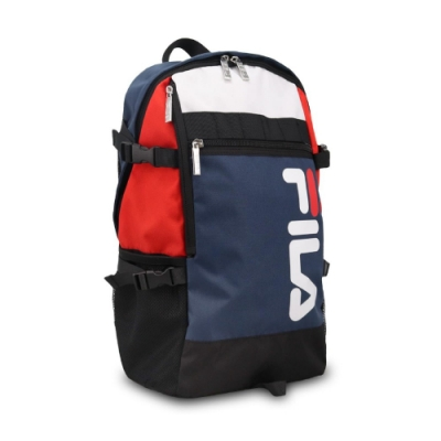 Fila 後背包 Logo Sports Backpack 斐樂 雙肩背 上學 旅行 大容量 藍 紅 BPU3006NV