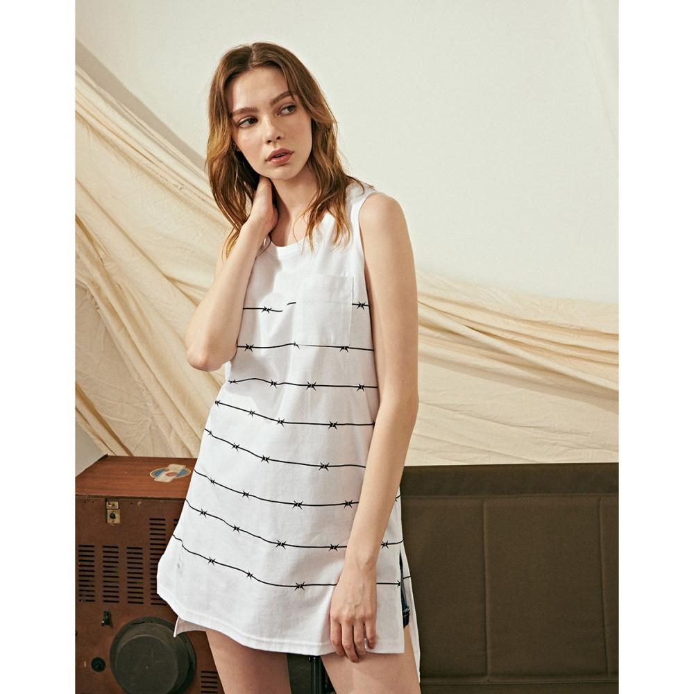 NAVY-MIT 品牌條紋口袋背心-情侶款(兩色)-女【TNA078】