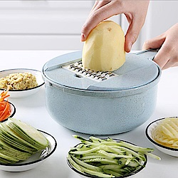 PUSH!廚房用品多功能刨絲切菜器D142
