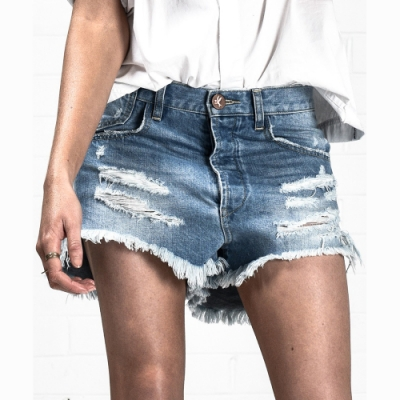 OneTeaspoon 牛仔短褲- LE WOLVES BLU BNE -女(藍)