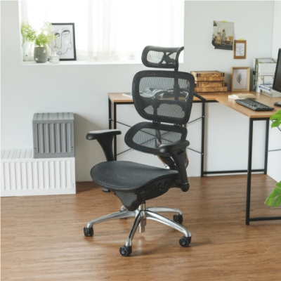 Home Feeling 高背透氣附頭枕電腦椅/機能椅/T扶手-72x65x143