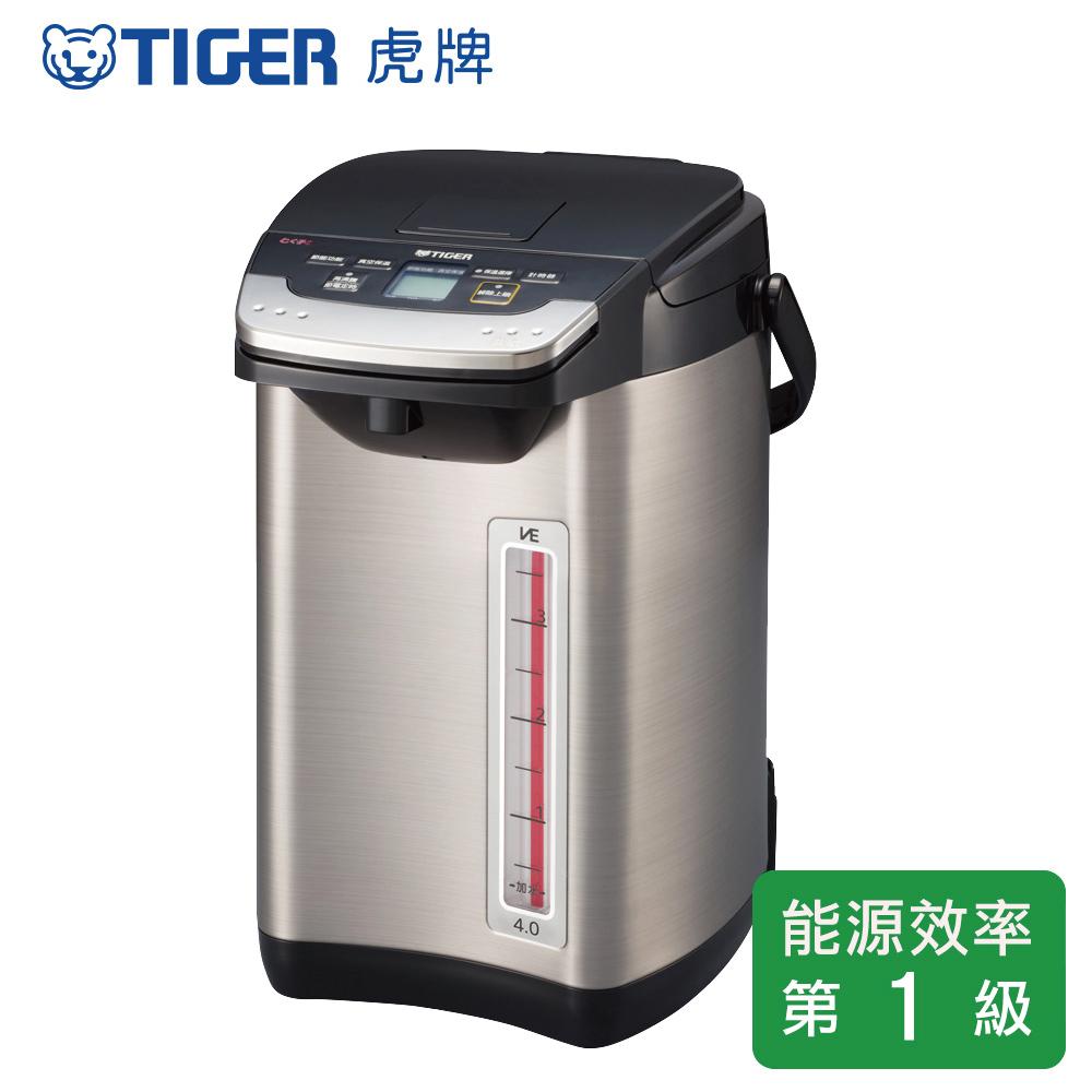 (TIGER虎牌) 頂級款_4.0L無蒸氣VE省電真空熱水瓶(PIE-A40R-KX)