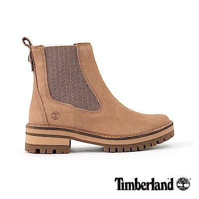Timberland女款米色絨面Courmayeur休閒鞋| A1S9Z