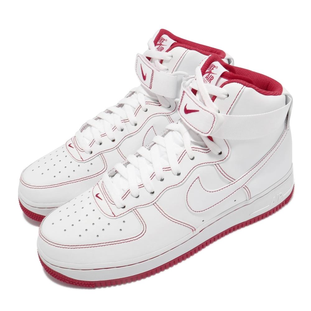 Nike 休閒鞋 Air Force 1 High 男女鞋 基本款 簡約 舒適 球鞋 情侶穿搭 白 紅 CV1753100