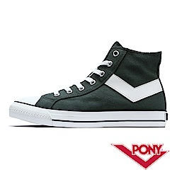 【PONY】Shooter系列高筒經典復古帆布鞋 休閒鞋男鞋 墨綠