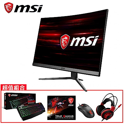 [無卡分期12期] MSI微星Optix MAG241C 24型曲面電競螢幕(週邊組)