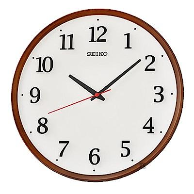 SEIKO 精工 仿木紋滑動式秒針 靜音掛鐘(QXA731B)-31cm