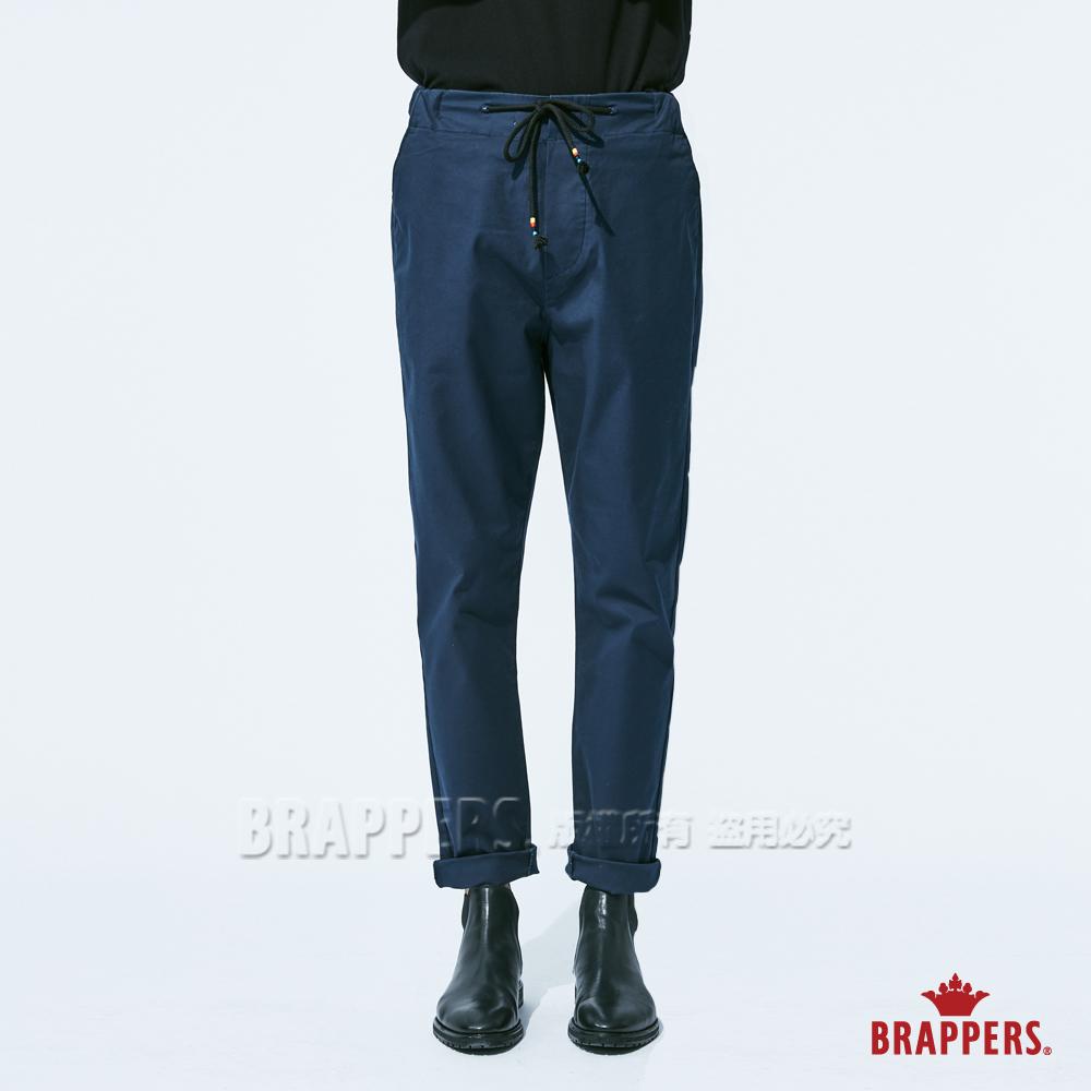 BRAPPERS 男款 鬆緊帶運動八分褲-藍