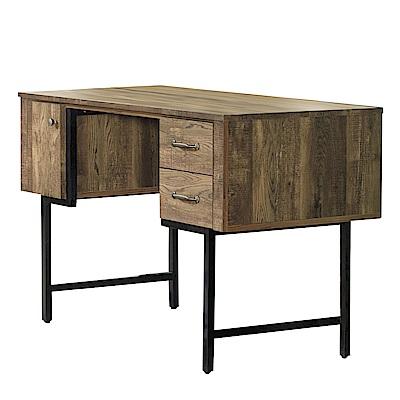 品家居 伊達3.7尺工業風書桌-112x60x77cm免組