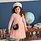 Little moni 荷葉滾邊網紗洋裝(共2色)