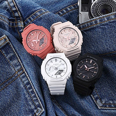 CASIO卡西歐 G-SHOCK 簡約輕薄 消光黑 八角型錶殼-多色任選