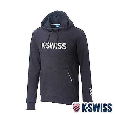 K-SWISS KS Logo Hoodie 連帽上衣-女-黑