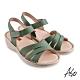 A.S.O機能休閒 輕量樂活經典版型設計休閒涼鞋-綠 product thumbnail 1