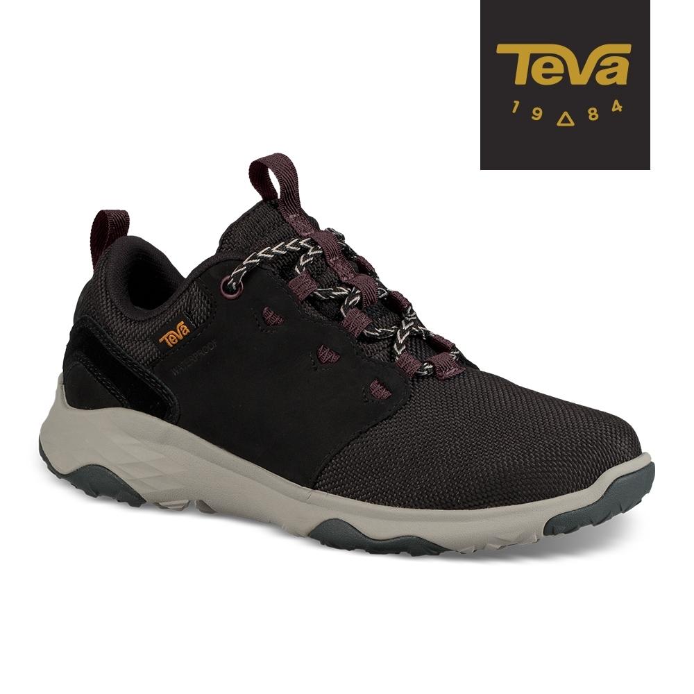 【TEVA】原廠貨 女 Arrowood Venture WP 低筒防水牛皮機能休閒鞋/登山鞋(黑-TV1103269BLK)