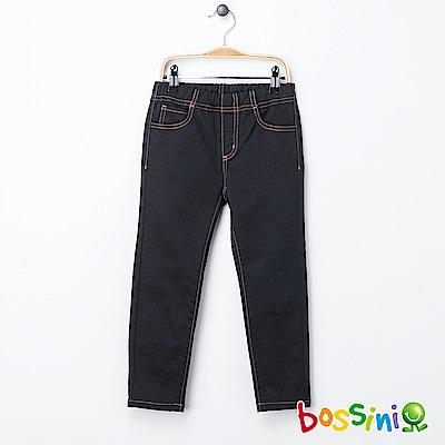 bossini女童-輕鬆窄管長褲01黑