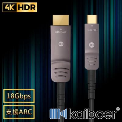 Kaiboer 劇院首選 Type-C轉HDMI2.0光纖4K超高畫質影音傳輸線 1M