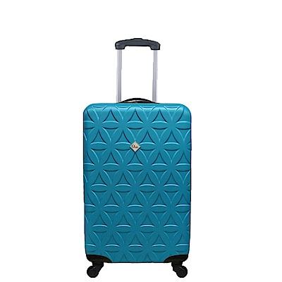 Gate9花花系列/20吋/ABS霧面輕硬殼旅行箱/行李箱-土耳其藍
