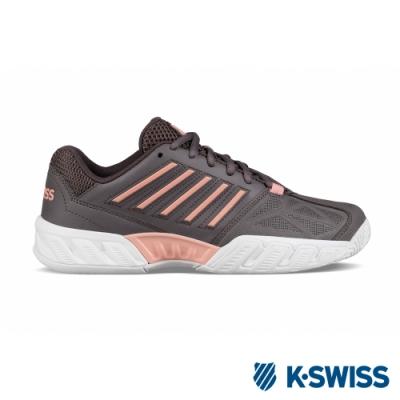 [零碼出清]K-SWISS Bigshot Light 3輕量進階網球鞋-女-灰/蜜桃橘