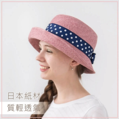 貝柔法式捲邊圓帽-波點(4色可選)