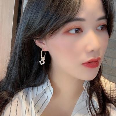 梨花HaNA 韓國法式美妍珍珠金飾圈圈耳環