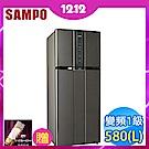 福利品 SAMPO聲寶 580L 1級變頻2門電冰箱 SR-A58D(K2)