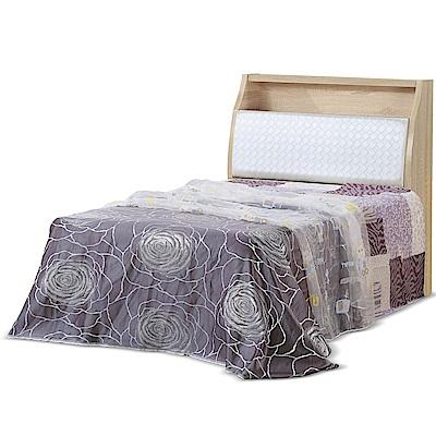 凱曼  費提瑪原橡3.5尺收納單人床組(床頭箱+床底)-2件式