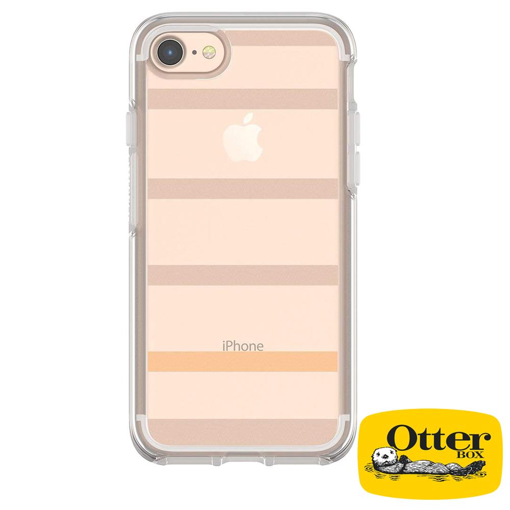 OtterBox iPhone7 / iPhone8炫彩幾何透明保護殼-霧彩條紋