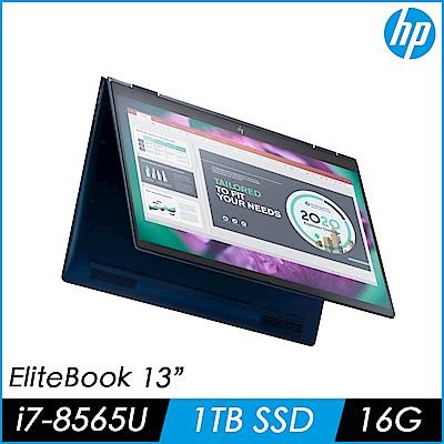 HP惠普 EliteBook Dragonfly 13吋商用觸控筆電(i7-8565U/16G/1TB PCIe SSD/9FM60PA)